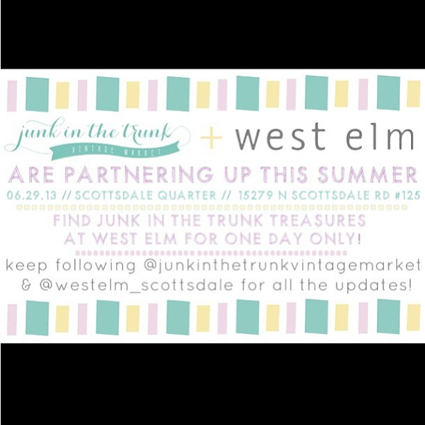 Junk in the Trunk + West Elm